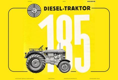 Steyr 185 traktor Trekker Schlepper blechschild