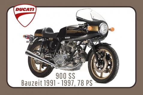 Ducati 900 SS 1991-1997 78PS motorrad, motor bike, motorcycle blechschild