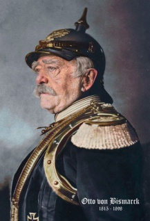 Retro: Otto von Bismarck Portrait 1816-1898 (Farbe) Blechschild 2x30 cm