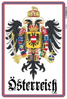 Österreich wappen Adler Austria blechschild