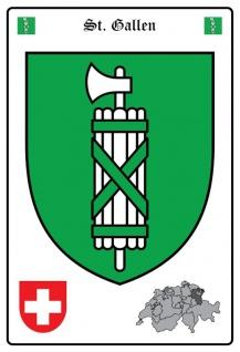 St Gallen wappen blechschild