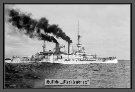 Retro: SMS Mecklenburg Kriegschiff Metallschild 20x30 cm Wanddeko tin sign