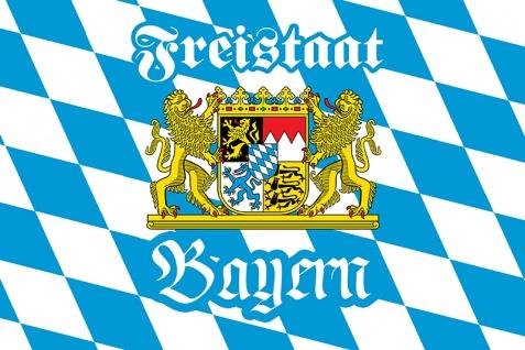 Blechschild Spruch Freistaat Bayern blau weis München Biergarten Oktoberfest Metallschild Wanddeko 20x30 cm tin sign