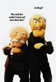 Blechschild Spruch Muppets Frauen auf Bierkiste Metallschild Wanddeko 20x30 cm tin sign