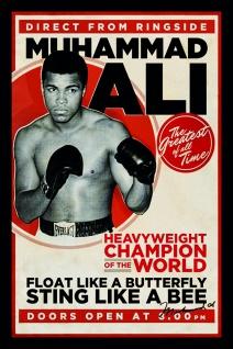 Muhammad Ali Sting Like a bee blechschild