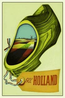 Retro: See Holland Blechschild 20x30 cm
