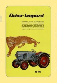 Eicher Leopard 15 PS schlepper traktor trekker blechschild