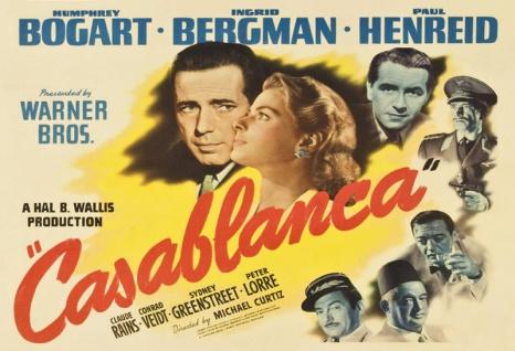 Casablanca Film Plakat Bergman Bogart Henreid blechschild