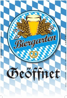 Biergarten Geöffnet, oktoberfest, bayern, weizen, blechschild