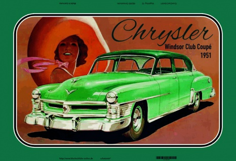 Chrysler Windsor Club Coupe 1951 auto blechschild
