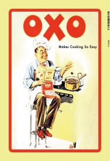 Oxo Cubes Cooking Koch bouillion koch rezept reklame blechschild