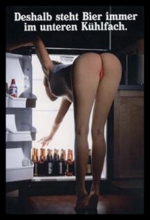 deshalb steht das bier immer im unteren kühlfach nackt