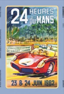 Le Mans 24 Juni 1962 reklame blechschild