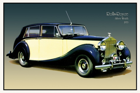 Rolls Royce Silver Wraith 1953 auto classic blechschild