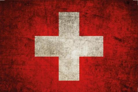 Blechschild Schweiz Nationalflagge Metallschild Wanddeko 20x30cm tin sign