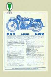 DKW E300 reklame motorrad, motor bike, motorcycle blechschild