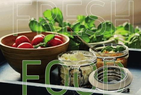 Blechschild Home fresh food Lebensmittel Metallschild Wanddeko 20x30 cm tin sign
