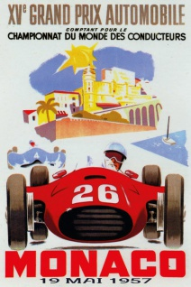 Retro: Grand Prix Automobile Monaco 1957 Blechschild 20x30 cm