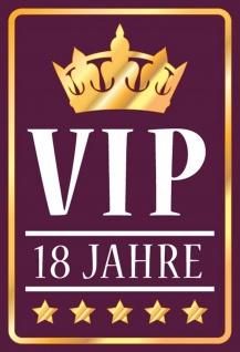 Blechschild VIP 18 Jahre Metallschild Wanddeko 20x30 cm tin sign