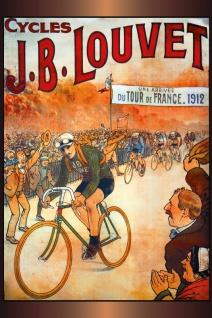 Nostalgie: Tour de France 1912 Cycles Louvet Blechschild 20x30 cm