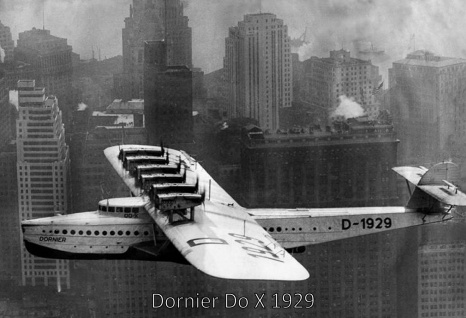 Retro: Flugzeug Dornier Do X 1929 Metallschild 20x30 Deko tin sign