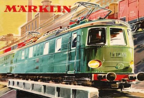 Märklin Eisenbahn Elektro E-Lok Zug Train blechschild