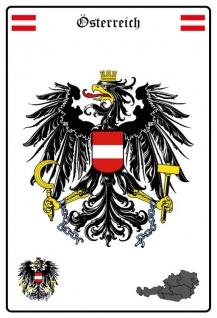 Österreich wappen blechschild
