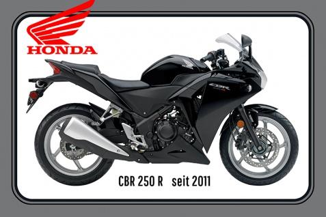 Honda CBR 250R 2011 motorrad, motor bike, motorcycle blechschild