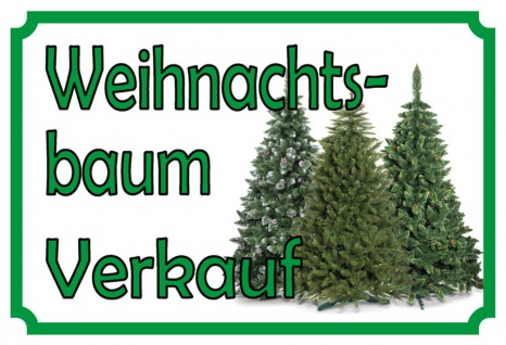 Blechschild Weihnachtsbaum Verkauf Metallschild Wanddeko 20x30 cm tin sign
