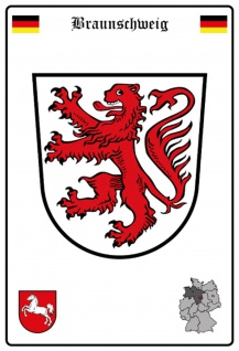 Blechschild Stadt Braunschweig Wappen Straßen Metallschild Wanddeko 20x30 cm tin sign