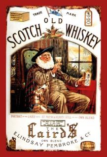 Lairds old scotch whisky blechschild