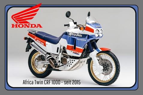 Honda Africa CRF 1000 2015 motorrad, motor bike, motorcycle blechschild
