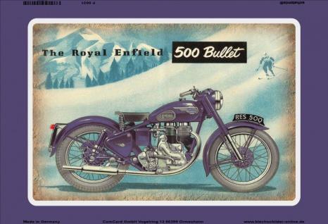 Royal Enfield 500 Bullet motorrad reklame blechschild