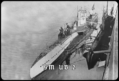 Blechschild SM UB 2 (U-Boot, angedockt) Metallschild Wanddeko 20x30 tin sign