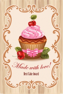 Blechschild Cupcake Made with love Retro Metallschild Deko 20x30cm tin sign
