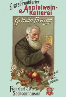Erste Frankfurter Apfelwein-Kelterei Freyeisen blechschild