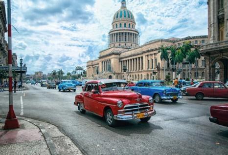 Nostalgie: Oldtimer Havana Cuba Blechschild 20x30 cm