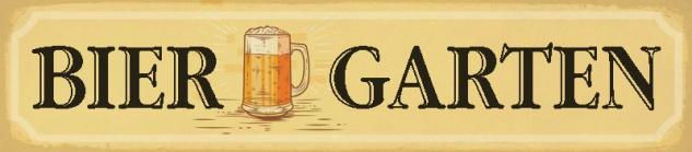 Bier Garten Bier glas Oktoberfest straßenschild blechschild