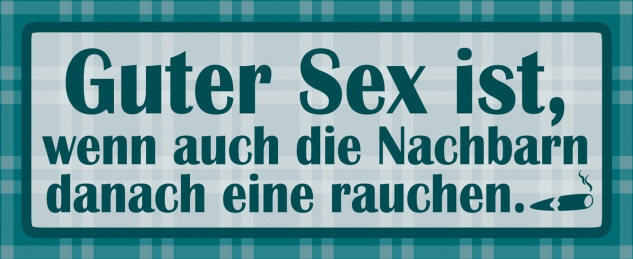 Blechschild Spruch Guter Sex ist Metallschild Wanddeko 27x10 cm tin sign