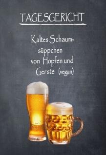 Blechschild Bier Tagesgericht Menu Metallschild Wanddeko 20x30 cm tin sign