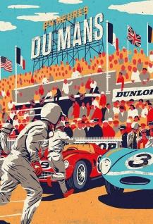 Retro: 24 heures Du Mans Blechschild 20x30 cm