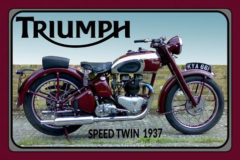 Triumph Speed Twin 1937 motorrad, motor bike, motorcycle blechschild