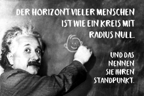 Blechschild Spruch Horizont Radius Null Einstein Metallschild Wanddeko 20x30 cm tin sign
