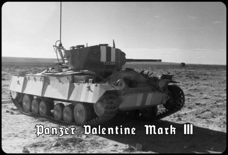 Blechschild Panzer Valentine Mark III Metallschild Wanddeko 20x30 tin sign