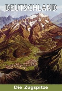 Zugspitze Deutschland berg blechschild