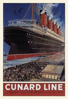 Blechschild Nostalgie Steamship Metallschild Wanddeko 20x30 cm tin sign