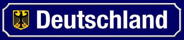 Deutschland strassenschild mit Wappen blechschild 46x10cm