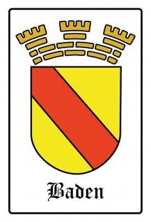 Blechschild Baden Wappen Metallschild Wanddeko 20x30 cm tin sign
