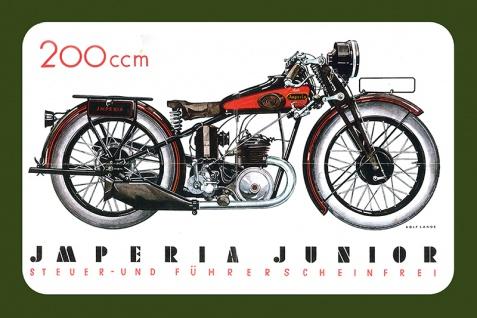 Imperia Junior 200ccm reklame motorrad, motor bike, motorcycle blechschild