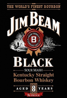 Jim Beam Black Kentucky Straight Bourbon Whiskey alkohol blechschild